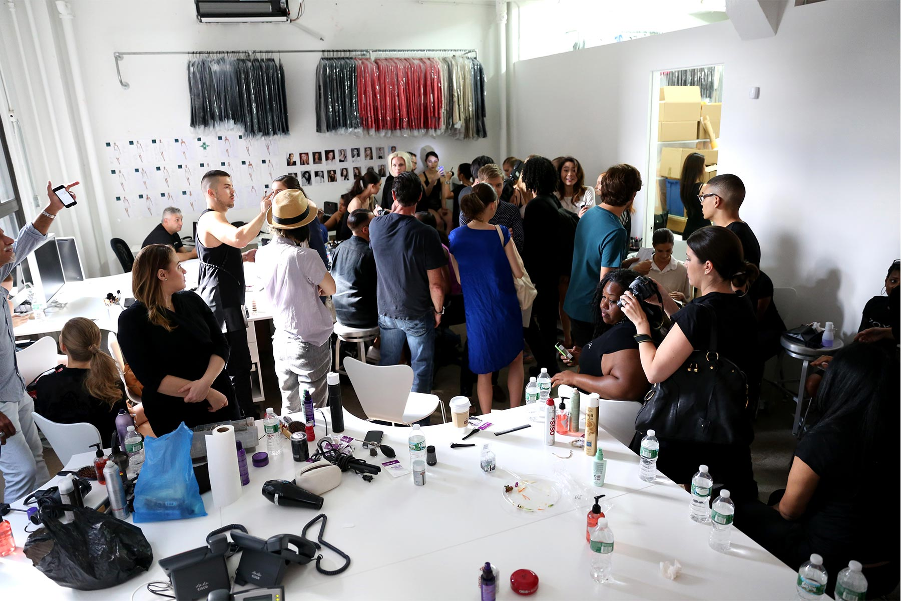 Behind scenes ROLANDO SANTANA S/S 2015 New York Fashion Week